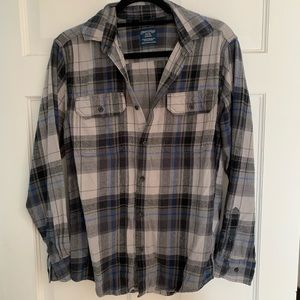 Grey and Blue Flannel